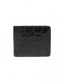 Portafoglio Tardini in pelle di alligatore cerata colore nero online