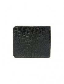 Portafoglio Tardini in pelle di alligatore cerata colore nero