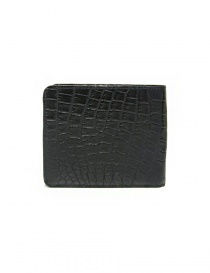Tardini black waxed alligator leather wallet