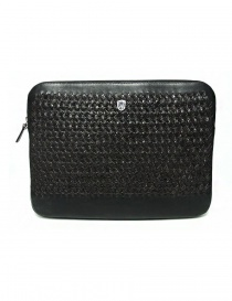 Tardini woven alligator leather bronw and black underarm bag online