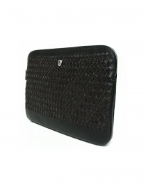 Tardini woven alligator leather bronw and black underarm bag