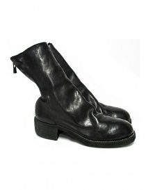 Black leather Guidi 788Z ankle boots online