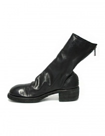 Black leather Guidi 788Z ankle boots