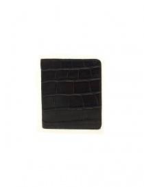 Portacarte Tardini in pelle di alligatore cerata colore marrone A6P223-16-02-P-CARTE order online