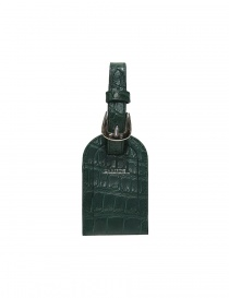 Portanome Tardini verde in pelle di alligatore satinato A6R071-250-917-PORTANOME order online