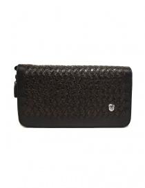 Borsello a mano Tardini in pelle di alligatore intrecciata colore marrone nero A6T139-31-02BI-BORSE order online