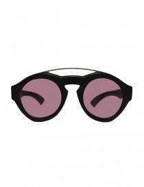 Occhiali online: Occhiale Paul Easterlin Woody nero con lente marsala