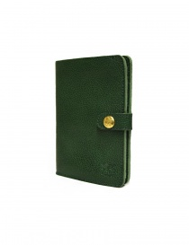 Il Bisonte green leather wallet with button closure