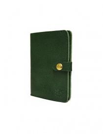 Portafoglio in pelle Il Bisonte colore verde con chiusura a bottone