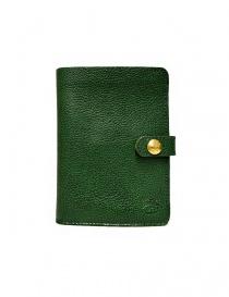 Portafogli online: Portafoglio in pelle Il Bisonte colore verde con chiusura a bottone