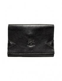 Portafogli online: Portafoglio in pelle Il Bisonte colore nero con chiusura a fascia elastica