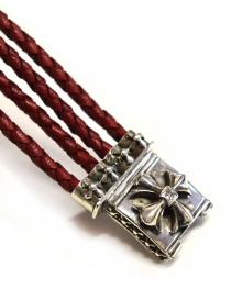 Elfcraft Sprouts Star silver and leather bracelet
