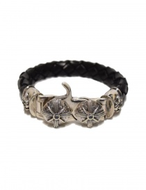 Elf Craft Tongslock silver and leather bracelet online
