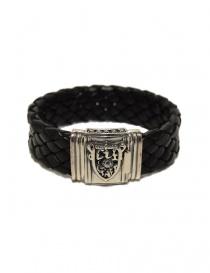 Elfcraft Shieldlock silver and leather bracelet online
