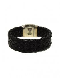 Elfcraft Shieldlock silver and leather bracelet