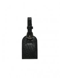 Tardini black alligator leather luggage tag online