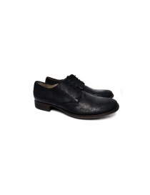 Tre Chiodi Matte Black Leather Shoes BU1500 0532 order online