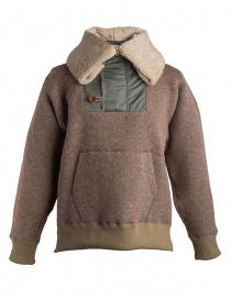 Giacca in lana con cappuccio Kolor beige