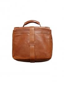 Light brown leather Il Bisonte briefcase