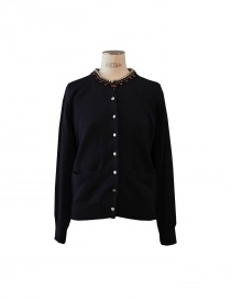 7 buttons Sacai sweater in navy colour online