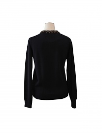 7 buttons Sacai sweater in navy colour