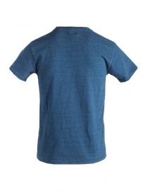 T-shirt Kapital blu indaco con sole smile
