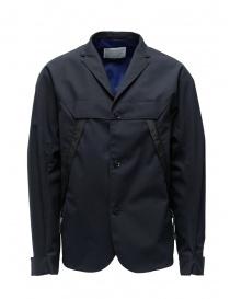 Giacca Kolor blu navy scuro con tasche diagonali 19SCM-G01101 B-DARK NAVY