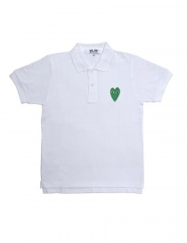 Womens t shirts online: Comme des Garcons Play Polo Shirt