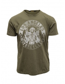 Rude Riders t-shirt Los Angeles Motorcycle verde online