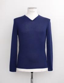Maglia scollo a V Adriano Ragni colore blu 161800201RGB order online