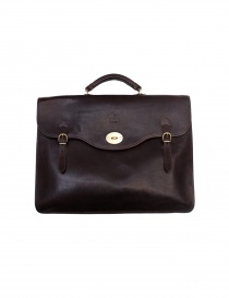 Il Bisonte Raffaello brown leather briefcase D0001 P132 order online