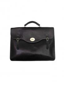 Il Bisonte Raffaello black leather briefcase D0001 P135 N order online