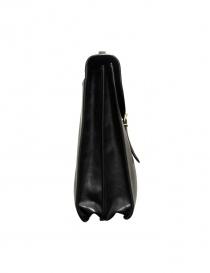 Il Bisonte Raffaello black leather briefcase