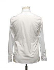 White shirt Cy Choi with black stripe