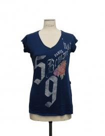 T-shirt Rude Riders blu scollo v 15226 43118 order online