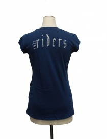 Rude Riders v neck blue t-shirt