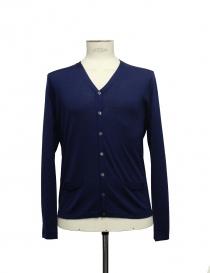 Cardigan Adriano Ragni colore blu 22ARCR02-WS2 order online