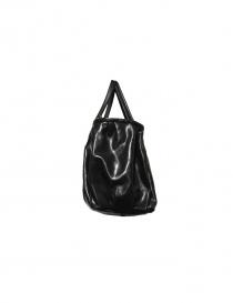 Delle Cose bright black leather bag