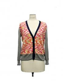 Womens cardigans online: Side Slope X Antipast gray cardigan