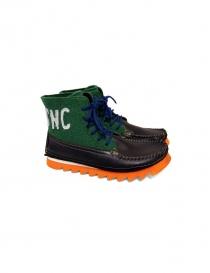Scarpa polacchina Essence colore nero e verde Z14-FELTRO-V order online