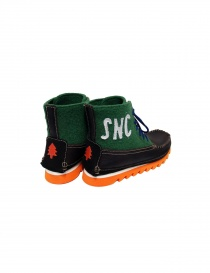 Essence black and green ankle boots