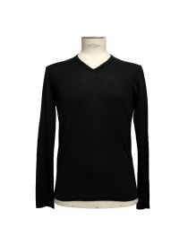 Black V-neck pullover Adriano Ragni 7ARSW23PCWS2 order online