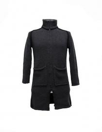 Mens coats online: Label Under Construction Handstitched Knit grey jacket