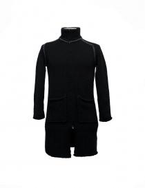 Mens coats online: Label Under Construction Handstitched Knit jacket