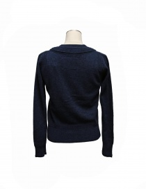 Cardigan Side Slope colore blu