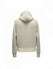 Side Slope white pullover with hood