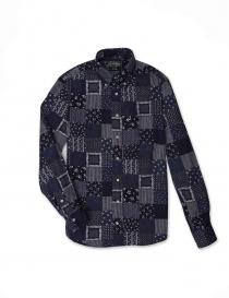 Camicia Gitman Bros patchwork GU02-L477-41 order online