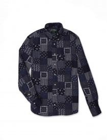 Gitman Bros patchwork shirt GU02-L477-41 order online