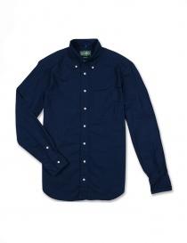 Camicia Gitman Bros colore blu GV02-L402-41 order online