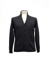 Mens cardigans online: Casa Isaac anthracite cardigan